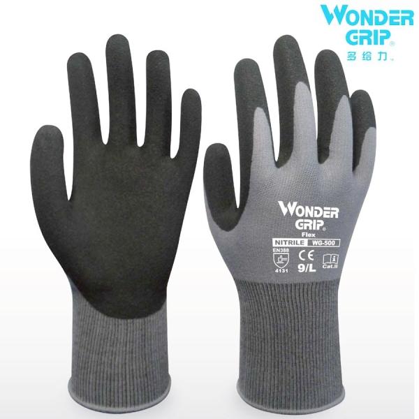 Wonder Grip® Flex 500 with the original Wonder Grip® Nitrile coating, EN388, 4131 Hand Protection Kuala Lumpur, KL, Malaysia Supply Supplier Supplies | Sama Maju Marine & Industry Sdn Bhd