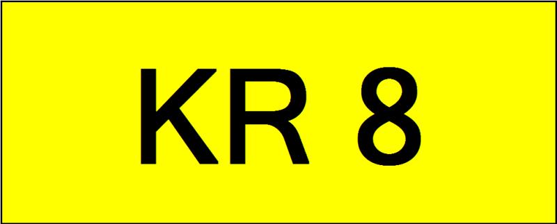 Number Plate KR8 Superb Classic Plate Johor Bahru (JB), Kuala Lumpur, KL, Malaysia. Service | AAA Premium Sdn Bhd