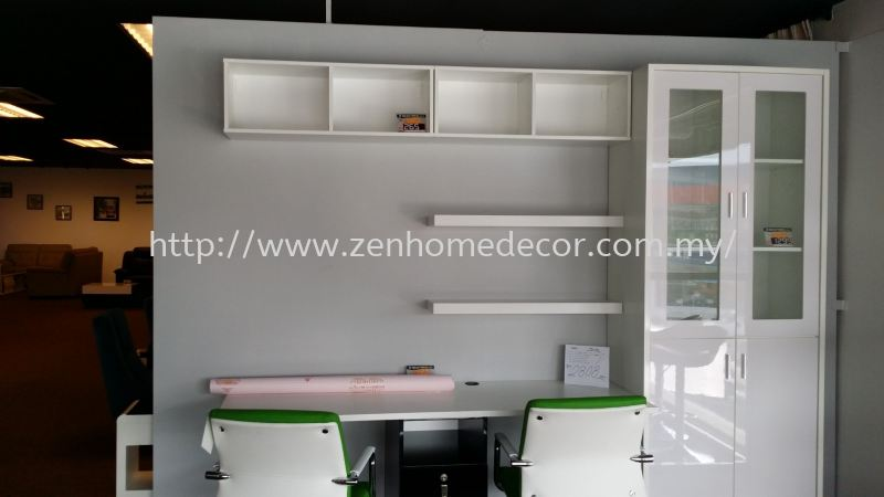 Writing Table With Book Shelf Cabinet Built in cabinet Built in works Furniture & Renovation Selangor, Malaysia, Kuala Lumpur (KL), Puchong, Shah Alam Supplier, Suppliers, Supply, Supplies | Zen Home Decor