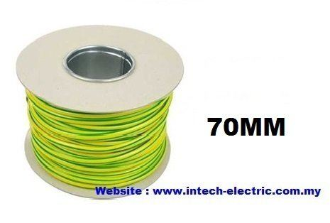 70.0SQMM PVC SINGLE CORE FLEXIBLE CABLE(GREEN-YELLOW) Pvc Single Core Earthing Cable Electric Copper Cable Johor Bahru (JB), Johor, Ulu Tiram, Malaysia Supplier, Suppliers, Supply, Supplies | Intech Electric Sdn Bhd