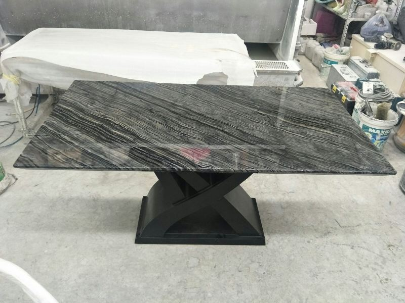 Dark Marble Dining Table - Antique Wood Marble Marble Dining Table Selangor, Kuala Lumpur (KL), Malaysia Supplier, Suppliers, Supply, Supplies | DeCasa Marble Sdn Bhd