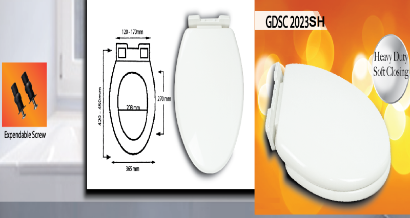 Heavy Duty Soft Closing GDSC 2023 SH Toilet Seat Cover Malaysia, Selangor, Kuala Lumpur (KL), Banting Supplier, Suppliers, Supply, Supplies | Goldolphin (M) Sdn Bhd