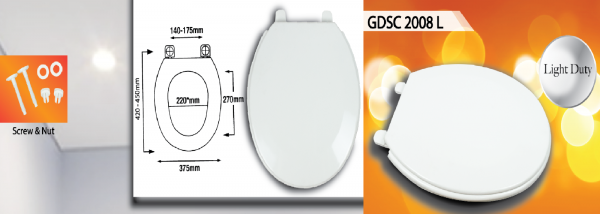 Light Duty GDSC 2008 L Toilet Seat Cover Malaysia, Selangor, Kuala Lumpur (KL), Banting Supplier, Suppliers, Supply, Supplies | Goldolphin (M) Sdn Bhd