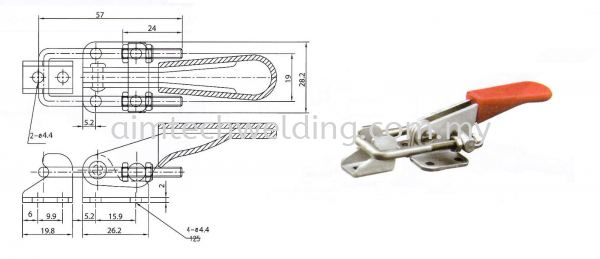 GH40323 LATCH TYPE TOGGLE CLAMP HOLDING TOOLS NIETZ PRODUCT Selangor, Malaysia, Kuala Lumpur (KL), Shah Alam Supplier, Supply, Rental, Repair | Aim Tech Welding System Sdn Bhd