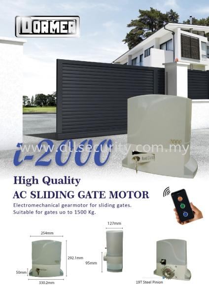 i-2000 AC SLIDING MOTOR DORMER Auto Gate System Singapore, Malaysia, Johor, Selangor, Senai Manufacturer, Supplier, Supply, Supplies | AST Automation Pte Ltd