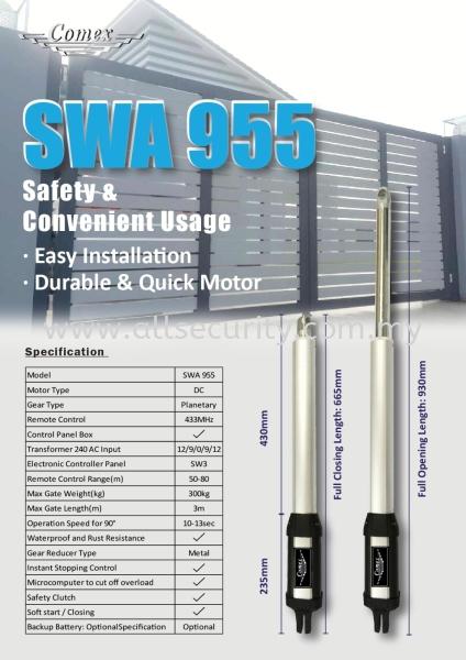 SWA 955 COMEX 自动门系统   Manufacturer, Supplier, Supply, Supplies | AST Automation Pte Ltd