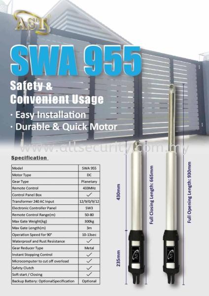 SWA 955 AST 自动门系统   Manufacturer, Supplier, Supply, Supplies   AST Automation Pte Ltd