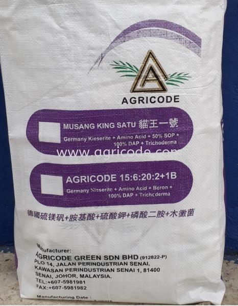 AGRICODE NPK 15:6:20 MUSANG KING SATU  Compound Fertilizer Series Johor Bahru (JB), Johor. Supplier, Suppliers, Supply, Supplies | Agricode Green Sdn Bhd