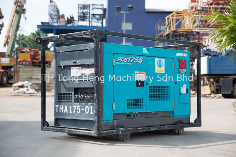 Airman PDS175S Air Compressor Johor Bahru (JB), Masai, Malaysia Rental, For Rent, Supplier, Supply | TH Tong Heng Machinery Sdn Bhd