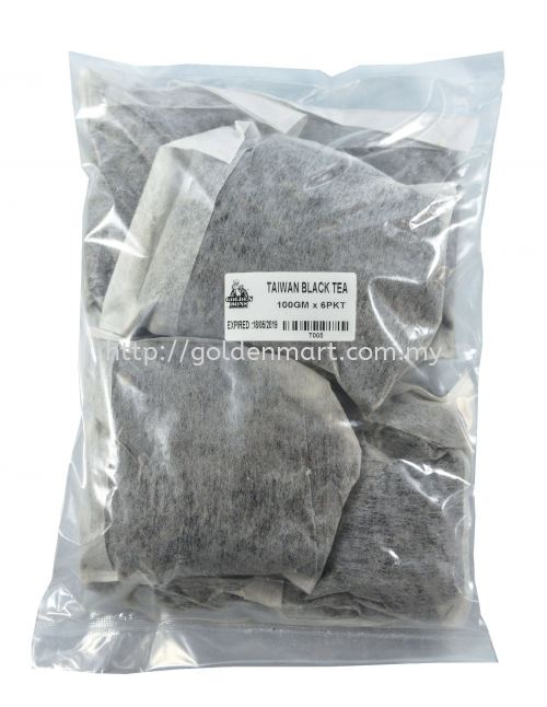 TAIWAN BLACK TEA BAG (100GRM/PACKET x 6 PACKET)