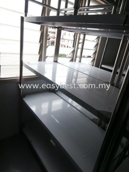 "S/S 4 TIER WORKTABLE DIM:48""X20""X60"" Ex Stock Seri Kembangan, Selangor, Kuala Lumpur (KL), Malaysia. Supplier, Supplies, Manufacturer, Design, Renovation | Easy Best Marketing Sdn Bhd"