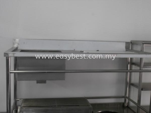 "S/S SINGLE BOWL SINK TABLE  DIM:59""X28""X33"" Ex Stock Seri Kembangan, Selangor, Kuala Lumpur (KL), Malaysia. Supplier, Supplies, Manufacturer, Design, Renovation | Easy Best Marketing Sdn Bhd"