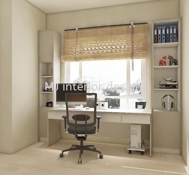 Study or Dressing Table Modular Furnitures Penang, Gelugor, Malaysia Service, Design, Renovation | MJ Interior Design & Renovation
