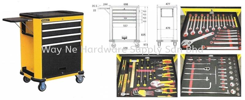 STANLEY Roller Cabinet, Model:99-069 + Accessories (135 pcs) + Foam Cut SKU# STMT74157-8 Stanley Selangor, Malaysia, Kuala Lumpur (KL), Klang Supplier, Suppliers, Supply, Supplies | Way Ne Hardware Supply Sdn Bhd