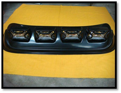 Car Roof Top (SQUARE) (YELLOW) (S/N:000372) Fog Lamp / Spotlight Automotive Lightning JB Johor Bahru Malaysia Supply Suppliers  | C & C Auto Supplies (M) Sdn. Bhd.
