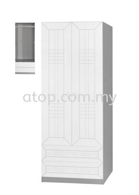 Wardrobe 2+2 Door WD224-3 (WH)