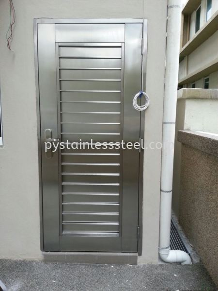 Stainless Steel Safety Door (2 in 1) Stainless Steel Safety Door Selangor, Kajang, Kuala Lumpur (KL), Malaysia Contractor, Supplier, Supply | P&Y Stainless Steel Sdn Bhd