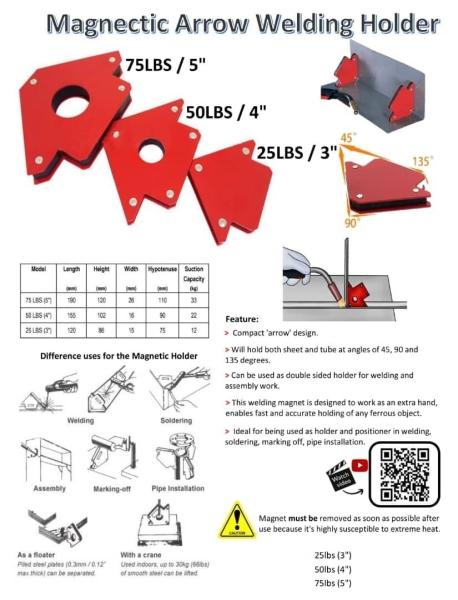 Magnectic Arrow Welding Holder 25LBS 3'' kr2000page2 Clamp / Bench Vice / Table Vice  Metal Equipment Seri Kembangan, Selangor, Kuala Lumpur (KL), Kajang, Malaysia Supply Supplier Suppliers | Knight Auto Sdn Bhd