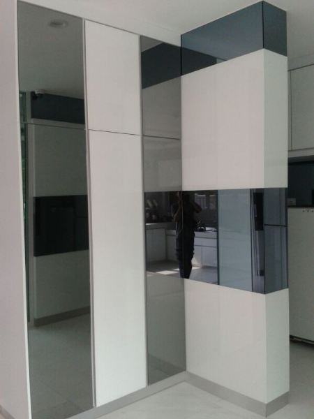 Pillars with tempered glass grey mirror Tempered Glass Grey Mirror Kuala Lumpur (KL), Cheras, Selangor, Malaysia Contractor, Supplier, Supply, Supplies | SV Interior Sdn Bhd