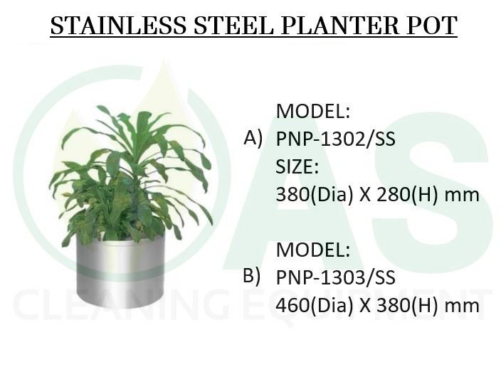 STAINLESS STEEL PLANTER POT Stainless Steel Bins and Receptacles Johor Bahru (JB), Johor, Malaysia, Johor Jaya Supplier, Supply, Rental, Repair | AS Cleaning Equipment