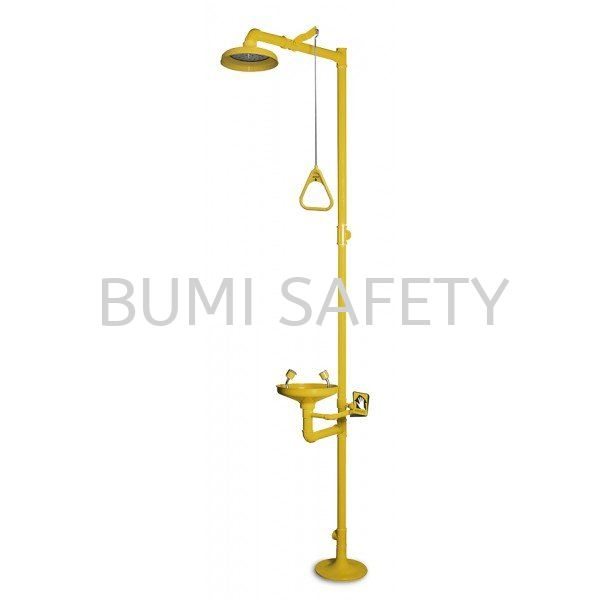 ABS Bowl Combination Emergency Shower And Eyewash Emergency Response, Eyewash / Shower Selangor, Kuala Lumpur (KL), Puchong, Malaysia Supplier, Suppliers, Supply, Supplies   Bumi Nilam Safety Sdn Bhd