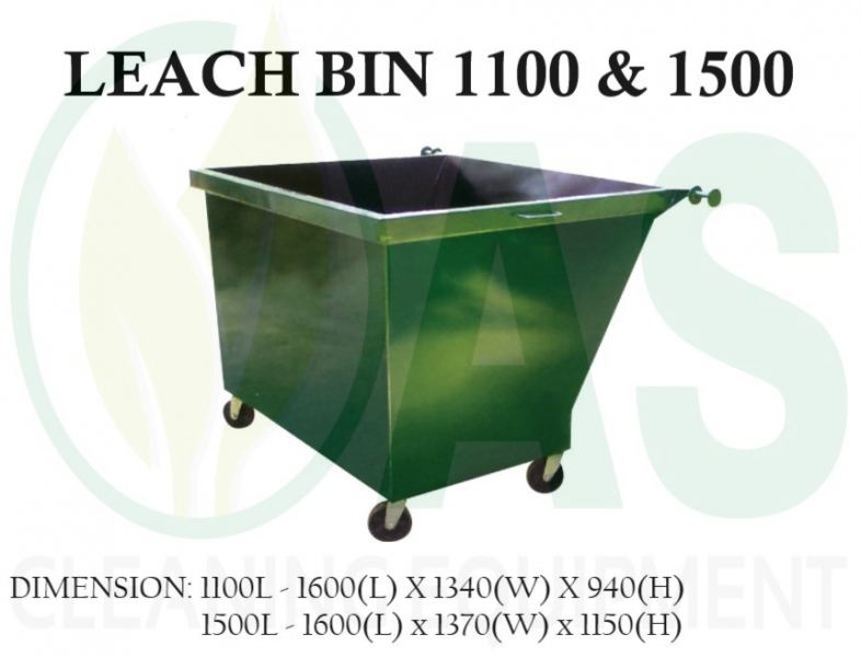 LEACH BIN 1100 & 1500 (METAL) Leach Bins Bins and Receptacles Johor Bahru (JB), Johor, Malaysia, Johor Jaya Supplier, Supply, Rental, Repair | AS Cleaning Equipment