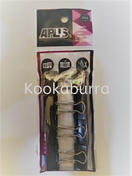 APLUS Binder Clip 25mm 8s Binder Clips Office & School Common Supplies Stationery Johor Bahru (JB), Malaysia, Iskandar Puteri Supplier, Wholesaler, Retailer, Supply | KOOKABURRA TRADING
