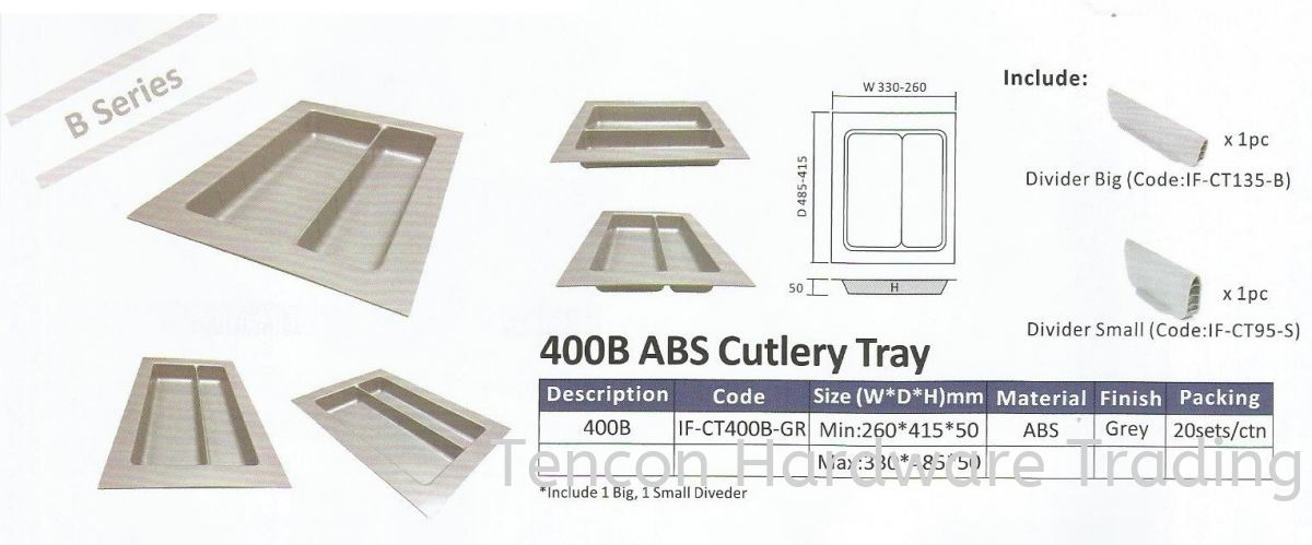 ABS Cutlery Tray Cutlery Tray eTen Furniture Hardware Penang, Malaysia, Butterworth Supplier, Suppliers, Supply, Supplies | Tencon Hardware Trading