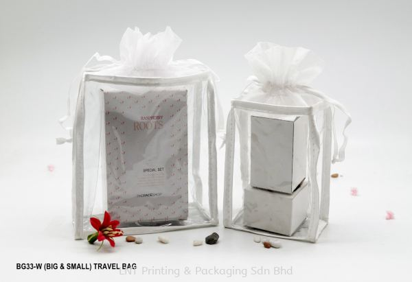 BG33 WHITE LINE TRAVEL BAG Travel Bag Penang, Malaysia, Bukit Mertajam Supplier, Services, Supply, Supplies | LNT Printing & Packaging Sdn Bhd