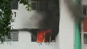 Fire breaks out at Lorong Ah Soo flat, 3 residents suffer smoke inhalation