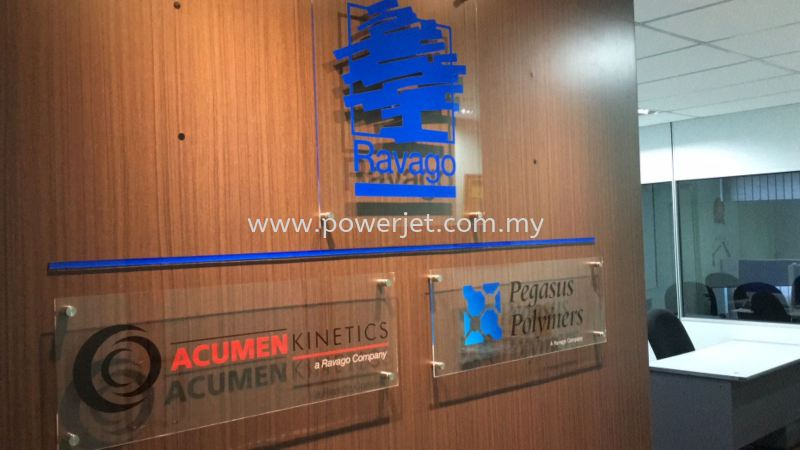 Acrylic Company Signage SIGNAGE Puchong, Selangor, Malaysia Supply, Design, Installation | Power Jet Solution Sdn Bhd