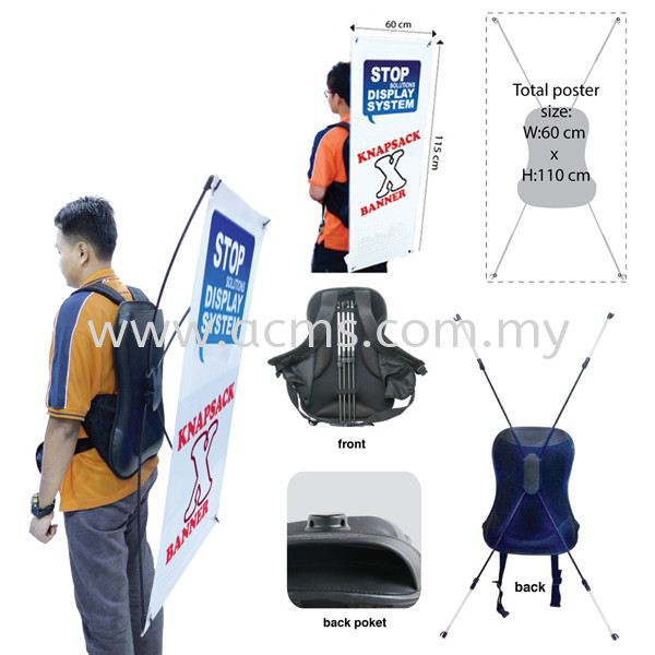 X Stand Series-Knapsack Bag Banner-BXS Pg1 BEG X STAND BEG STAND SERIES (X  / FLAG ) DISPLAY SYSTEM Selangor, Malaysia, Kuala Lumpur (KL), Sungai Buloh Supplier, Suppliers, Supply, Supplies | AC Marketing Solution Sdn Bhd