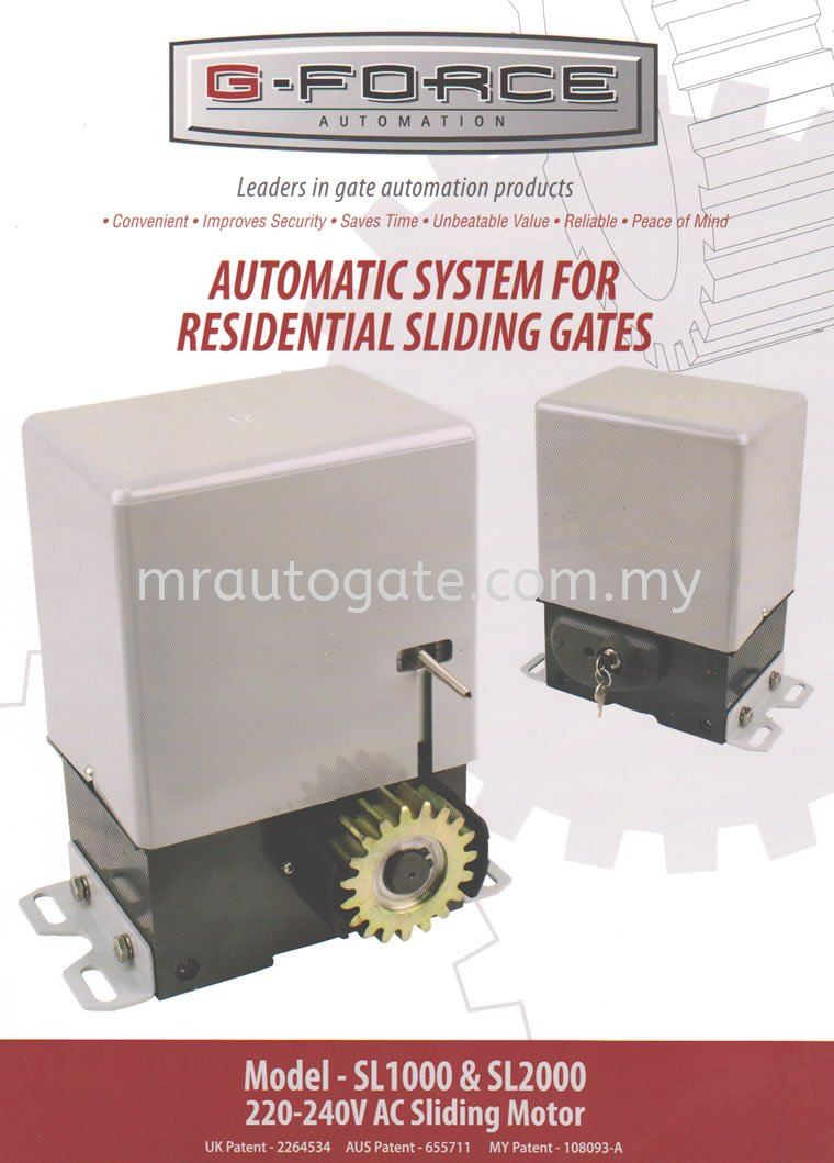 G-Force AC Sliding Auto Gate