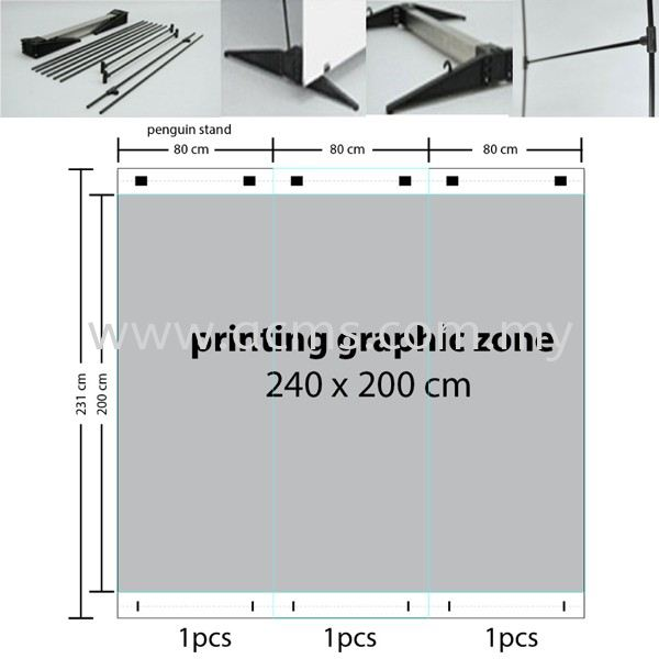 Portable Backdrop Penguin Stand (PNG-S) PENGUIN STAND DISPLAY SYSTEM Selangor, Malaysia, Kuala Lumpur (KL), Sungai Buloh Supplier, Suppliers, Supply, Supplies | AC Marketing Solution Sdn Bhd