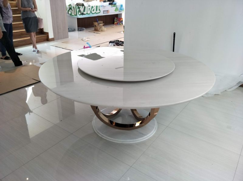 White Marble - Sivec White Marble Dining Table Selangor, Kuala Lumpur (KL), Malaysia Supplier, Suppliers, Supply, Supplies | DeCasa Marble Sdn Bhd