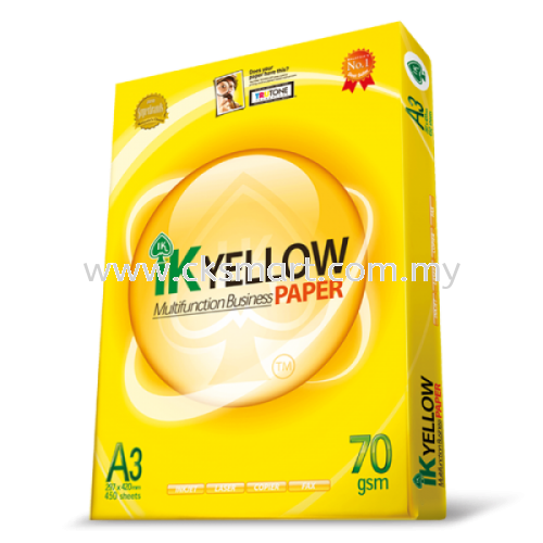 IK YELLOW A3 PAPER 70GSM 450's A4 Copier Paper Paper Products Johor Bahru (JB), Malaysia, Skudai Supplier, Suppliers, Supply, Supplies | CK Smart Trading
