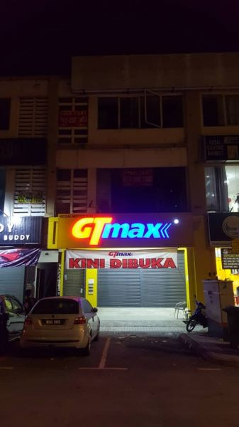 GT MAX motor ( cheras )  LED Conceal Acrylicbix Up Lettering Selangor, Kuala Lumpur (KL), Klang, Malaysia Supplier, Supply, Manufacturer, Service | A One Advertising Sdn Bhd