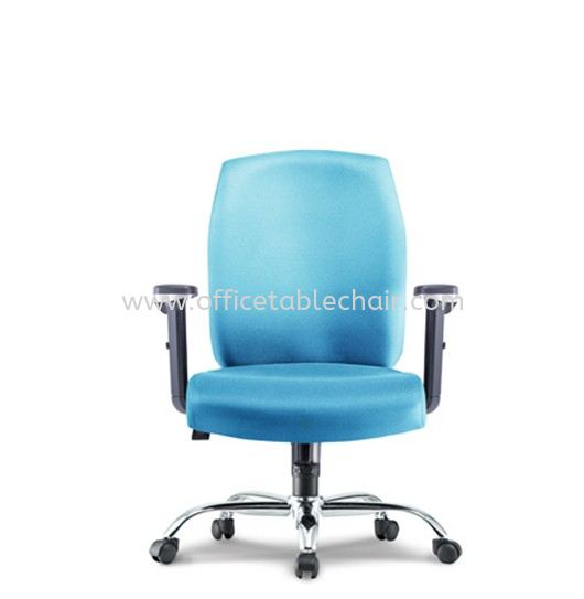 HALEY EXECUTIVE LOW BACK FABRIC CHAIR WITH CHROME METAL BASE