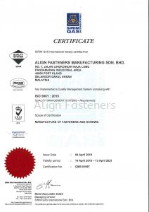 ISO Certificate 2018-2021