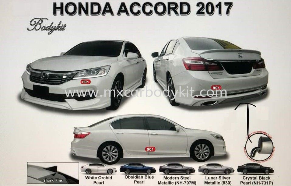HONDA ACCORD 2017 AM STYLE BODYKIT WITH SPOILER  ACCORD 2016 HONDA Johor, Malaysia, Johor Bahru (JB), Masai. Supplier, Suppliers, Supply, Supplies | MX Car Body Kit