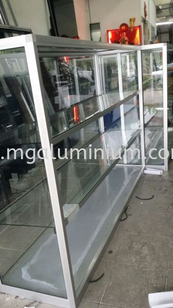Display Cabinet Johor Bahru (JB), Johor. Design, Installation, Supply | MG Aluminium & Glass Works