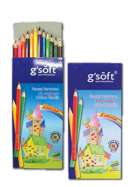 G'SOFT 12 LONG (CP-GS-1812L) COLOUR PENCILS ART AND CRAFT Melaka, Malaysia Supplier, Suppliers, Supply, Supplies | Double A One Stop Station Sdn Bhd