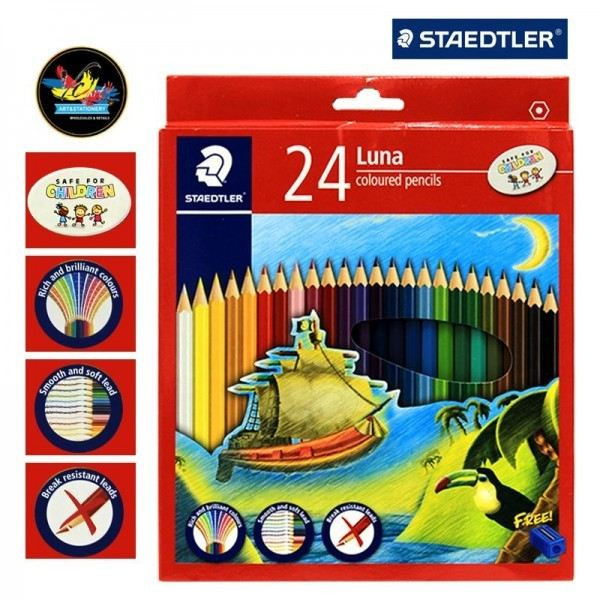 LUNA 24 (ART NO:136 C24) COLOUR PENCILS ART AND CRAFT Melaka, Malaysia Supplier, Suppliers, Supply, Supplies | Double A One Stop Station Sdn Bhd