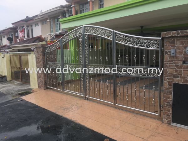 Fully Stainless Steel Folding Gate Stainless Steel Gate With Aluminium Panel Selangor, Malaysia, Kuala Lumpur (KL), Puchong Supplier, Supply, Supplies, Retailer | Advanz Mod Trading