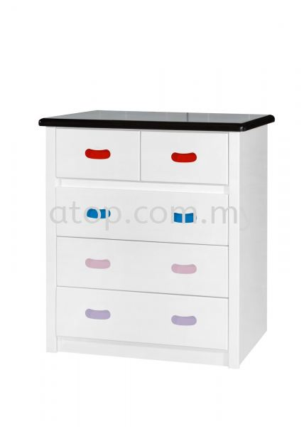 Chest Drawer CD 9608 (WHW+RBPC) Chest Drawer Malaysia, Selangor, Kuala Lumpur (KL), Rawang Manufacturer, Maker, Supplier, Supply | Atop Trading Sdn Bhd