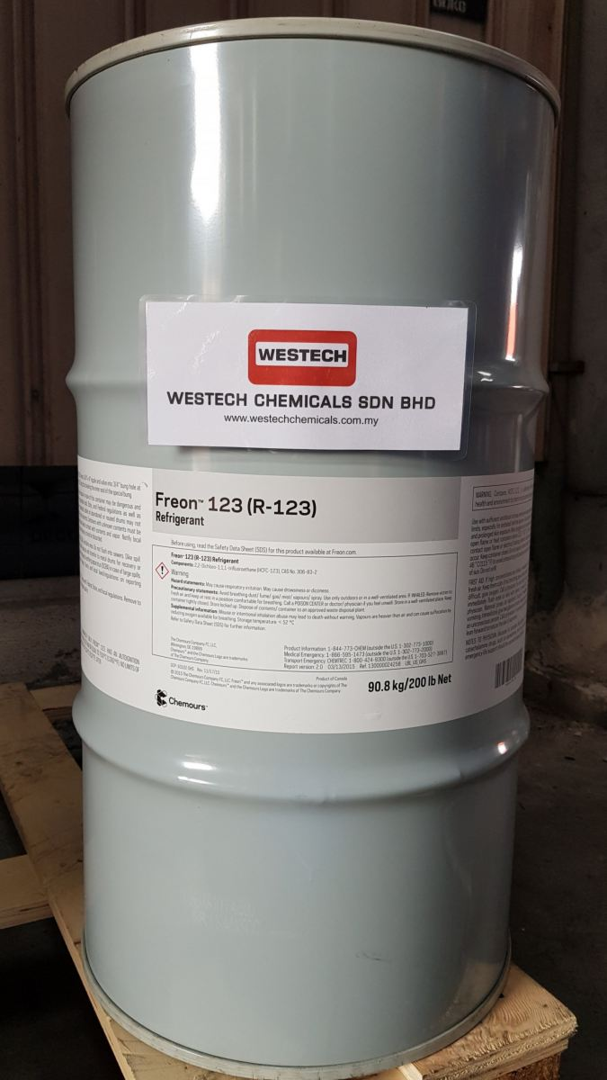 Chemours Freon 123  Freon  Refrigerant Chemours Malaysia, Selangor, Kuala Lumpur (KL), Shah Alam Supplier, Suppliers, Supply, Supplies | WESTECH CHEMICALS SDN BHD