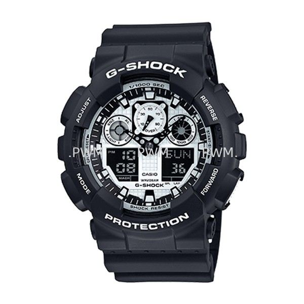 GSHOCK GA100BW-1AD Standard Analog-Digital G-Shock Penang, Malaysia, Bayan Baru Watches, Supplier, Supply, Supplies | TYME®