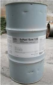 DuPont Suva 123 (R-123) 90.8kg / 200 Ib Net Refrigerant