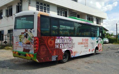 Bus Body Wrapping @ Rainforest World Music Festival 07.2018 Bus body wrap on Kuching Bus Transit Advertising Bus Advertising  Malaysia, Selangor, Kuala Lumpur (KL), Puchong Services | AD-ON-BUS SDN BHD