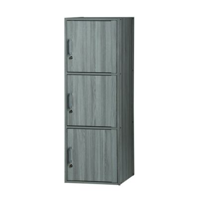 3 DOORS UTILITY SHELF WITH LOCK (MX SU300FL-GL)